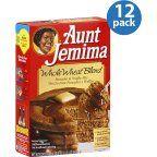 Aunt Jemima Whole Wheat Blend Pancake & Waffle Mix, 35 oz, (Pack of 12 ...