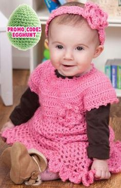 Adorable baby girl outfit--free pattern