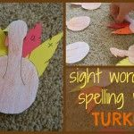 Spelling Words and Sight Word Turkey Fun