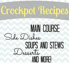 Tons of Crockpot Recipes all in one place!!! Lots of good ones you will want to try out!
