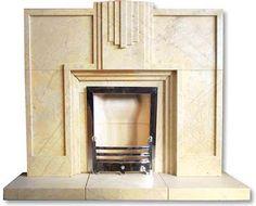 Sleek Art Deco Fireplace