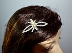 1950s Vintage Butterfly Rhinestone and Pearl by TabbysVintageShop, $20.00