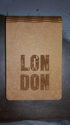 London com gravação a laser
