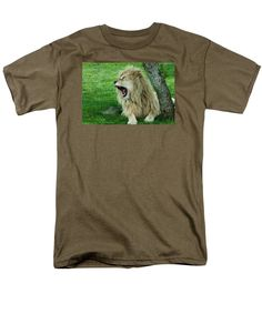 Lion T-Shirt featuring the photograph Yawn by Laurel Wang