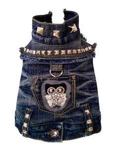 No, Violet, you can't have this one either! Beautiful work though. Night Owl Recycled Denim Studded Vest by Orostani Couture