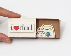 "Father's Day Card ""I <3 Dad"""" Matchbox/ Gift box / Message box by shop3xu on Etsy https://www.etsy.com/listing/219692744/fathers-day-card-i-3-dad-matchbox-gift"