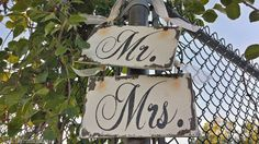 Mr and Mrs Signs, Shabby Chic Wedding Signs, Chair Hangers, Rustic Chair Signs, Wooden Signs