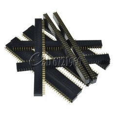 [Visit to Buy] 5PCS 2.54mm 2* 40 Pin Female Double Row Pin Header Strip New GOOD QUALITY #Advertisement