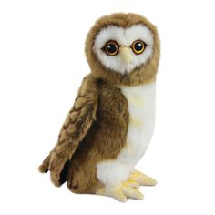 """Hansa Brown Owl 9"""" Plush Toy"""" Plush Animals, Felt Animals, Girls Bedroom With Loft Bed, Sports Toys, Dress With Sneakers, Needle Felted Animals, Unisex Baby, Toy Store, Animal Kingdom"""