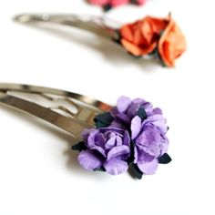 Why not add a little flower garden to your hair with these adorable flower hair clips!