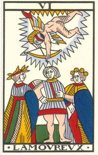 Tarot de Jean Noblet, VI L'Amourevx, JC Flornoy restauration