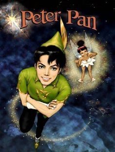 Michael Jackson as Peter Pan and Janet Jackson as Tinker Bell.