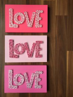 MADE TO ORDER String Art Love Sign by TheHonakerHomeMaker on Etsy