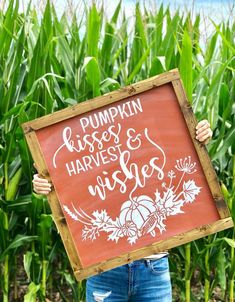 Excited to share this item from my shop: Pumpkin kisses and harvest wishes large framed chalkboard style wood sign Fall Wood Signs, Fall Signs, Wooden Signs, Large Framed Chalkboard, Fall Chalkboard Art, Thanksgiving Chalkboard, Chalkboard Lettering, Chalkboard Ideas, Fall Crafts