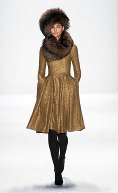 Mischka NYc fashion winter autumn 2014 2015 catwalk