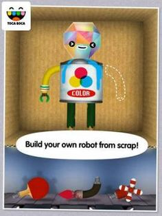 FREE for a limited time: Toca Robot Lab by Toca Boca - a virtual robot making factory.