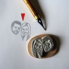 hahaha this would be the best wedding present ever!! im so getting this for my next engaged friend .. lilmandrill custom portrait stamps by marla