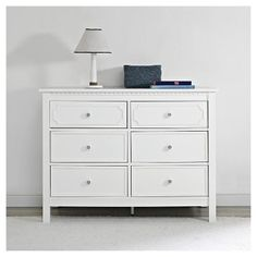 Baby Relax Rivers 6 Drawer Dresser - White : Target