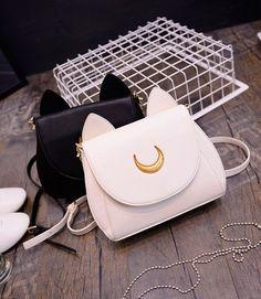 Anime Sailor Moon Luna Cosplay Costume Leather Shoulder Handbag Tote Purse Bag #Unbranded #TotesShoppers
