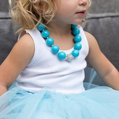 Blue Beaded Necklace for Girls | The TomKat Studio Shop