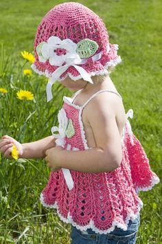 crochet sun hat & summer dress