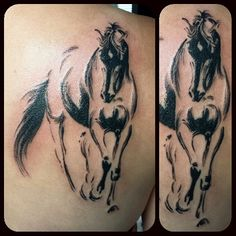 Lovely and familiar horse design, tattooed by @japish_one #tattoo #horsetattoo #horse