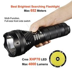 Lumintop SD75: Powerful LED flashlight produces 4000 lumens and 653 meter beam