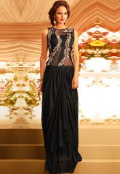 Admyrin Black Embroidered Gown Online Shopping Store