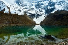 The lake at the base of the Umantay glacier.