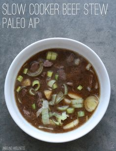 Slow Cooker Beef Stew (Paleo, AIP). Make sure your beef is 100% grass fed obviously