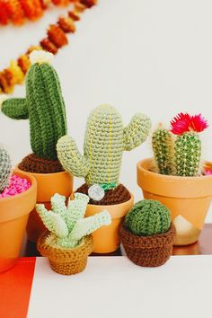 crocheted cactus favors | Wedding & Party Ideas | 100 Layer Cake