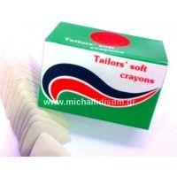 Σαπουνάκι Σημαδέματος Λευκό Tailors soft crayons σε κουτί συσκευασία 15 τεμαχίων. Σχήμα: Τρίγωνο Χρώμα: Λευκό