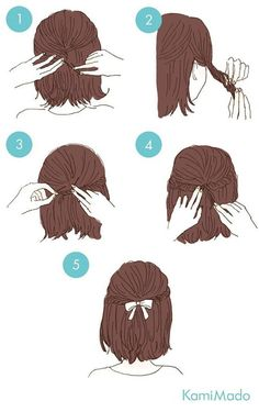 easy hairstyles These cute hairstyles are so simple to do and can be done in just minutes! Not everyone has a lot of time these days. So easy hairstyles are the way forward. Sweet Hairstyles, Cute Simple Hairstyles, Pretty Hairstyles, Cute Hairstyles, Braided Hairstyles, Hairstyle Ideas, Hairstyles For Short Hair Easy, Wedding Hairstyles, Step By Step Hairstyles