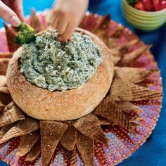 BabyZone: Finger Foods for Baby's First Birthday | Spinach Dip in a Bread Bowl