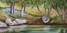 """""""Summer Afternoon in the Narrows"""" acrylic"""