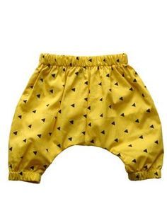 Beau LOves - Babble pants, yellow triangle | pikkuOtus -Children´s clothing
