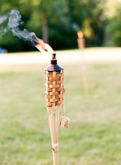 I mean what's a backyard wedding without tiki torches!