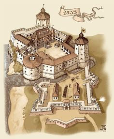 DeviantArt: More Collections Like Medieval town 3 by Fantasy City, Fantasy Castle, Fantasy Map, Medieval Fantasy, Fantasy World, Chateau Medieval, Medieval Castle, Historical Architecture, Ancient Architecture