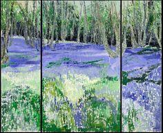Frances Macdonald, A Sea of Bluebells, oil on canvas. Passing Islands - The Scottish Gallery, Edinburgh - Contemporary Art Since 1842