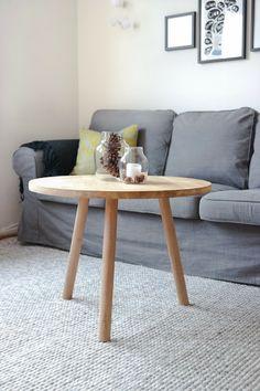 DIY rundt sofabord i 10 steg
