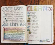 Bullet Journal Your Way to a Cleaner House! Great ideas for bullet journal layouts to keep your house clean and tidy.