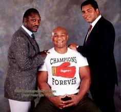 Joe Frazier, George Foreman, & Muhammad Ali