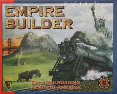 Empire Builder is a fun game for the whole family starting at age 10.  With kids a bit younger, we do teams and they can draw the route.