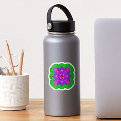 """Mandala Lotus Flower "" Sticker by Pultzar | Redbubble"