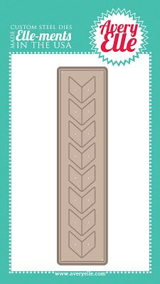 Avery Elle : Chevron Die.  I bought this and liked it, but I've only used it once. The chevron design (each piece) was smaller than I thought it would be. While the tool, itself, is very good, I haven't been able to find (or dream up) many ideas for its use. I'll keep trying, though!