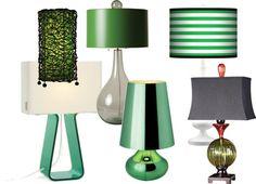 Emerald green lampshades