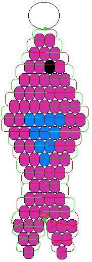 fish pony bead pattern - Google Search