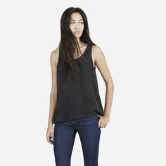 Simple and sophisticated  --- (Everlane, The Silk Tank)