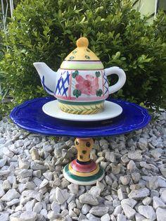 Teapot garden decor  repurposed decor  recycled yard art