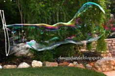 DIY : des bulles de savon géantes